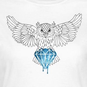 Dynamic Owl royal long Tee - T-shirt Femme