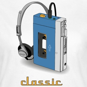 CLASSIC-WALKMAN im Retrodesign, blau - Frauen T-Shirt