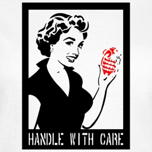 Handle with care in het zwart - Vrouwen T-shirt
