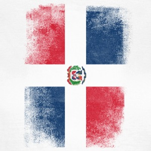 Dominic Repubblica Dominicana Flag Vintage Distressed - Maglietta da donna