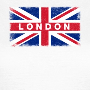 London Shirt Vintage Großbritannien-Flaggen-T-Shirt - Frauen T-Shirt