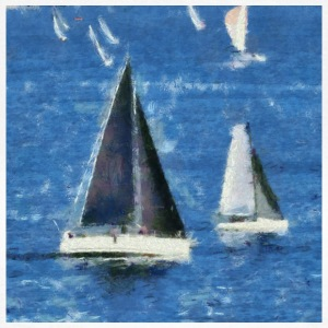 Racing Yachts. - T-shirt dam