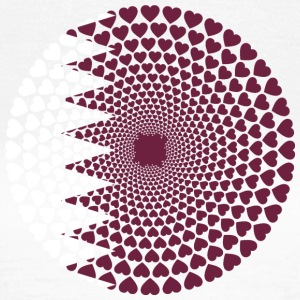 Qatar Qatar قطر HEART LOVE Mandala - Dame-T-shirt