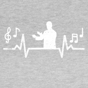 Heartbeats heartbeat of conductor music - Women's T-Shirt