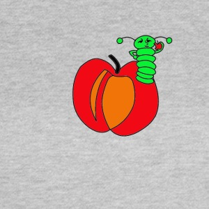 Apple, worm - Vrouwen T-shirt