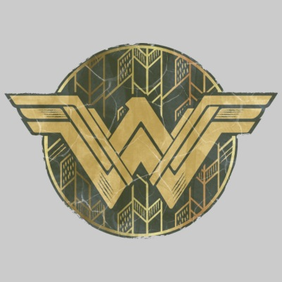 Bros Wonder Woman Faded Vintage Logo