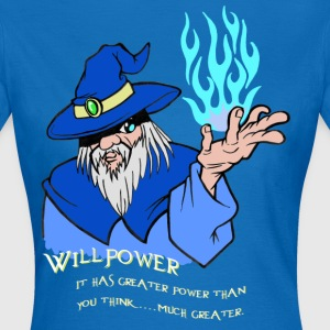 Willpower Wizard Blau / Hellblau Flamme - Frauen T-Shirt