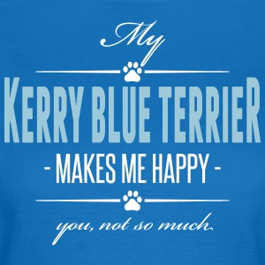 My Kerry Blue Terrier makes me happy - Women's T-Shirt