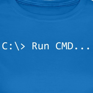 Run CMD Prompt - Vrouwen T-shirt