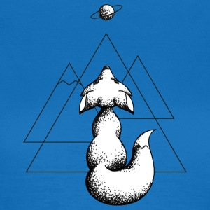 Cosmic Fox - Svart - T-shirt dam