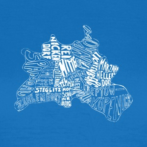 Berlin map Districts - Women's T-Shirt