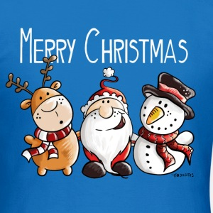 Merry Christmas Santa Claus, Reindeer and Snowman