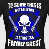 Family Crest - Blue Line - EN - Frauen T-Shirt
