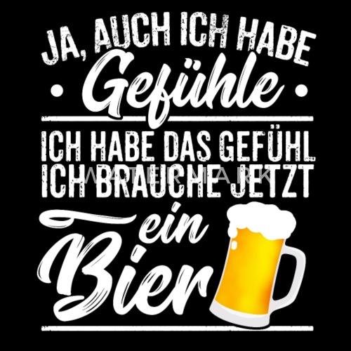 Witziger Bier Spruch Gefühle Lustiges Geschenk Frauen T ...
