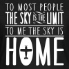 skydiving: sky is home, not the limit - T-shirt Femme