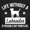 Dog shirt: Life without a Labrador is pointless - Dame-T-shirt