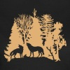 wolf pack wolves howling wild animal moon forest tree trees wildernes - Women's T-Shirt