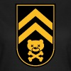 Dead bear sleeve army stripes rank badge emblem vignet with skull and crossed bones t-shirts - Women's T-Shirt