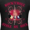 rock'n'roll stole my soul - red - T-shirt Femme