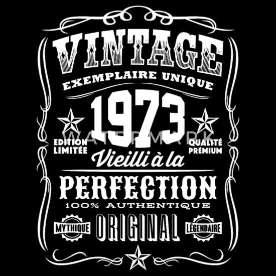 46th Anniversaire Cadeau Année 1973 Femme Ras du cou T-Shirt Limited âgé à