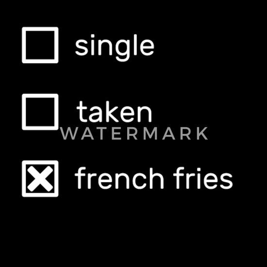 single taken french fries