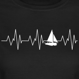 Heartbeat Sailing - Dame-T-shirt