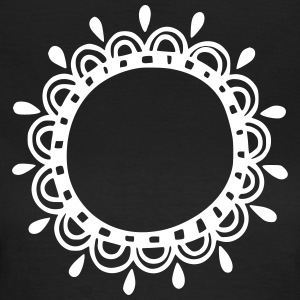 Wreath, frame, decoration, your text, template - Women's T-Shirt