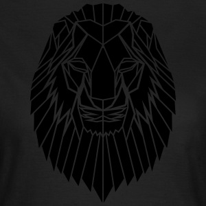 Edgy Geometric safari Lion Print door Stencilize - Vrouwen T-shirt
