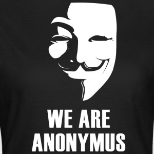 Anonymus nous sommes masque démonstration revolutio blanc - T-shirt Femme