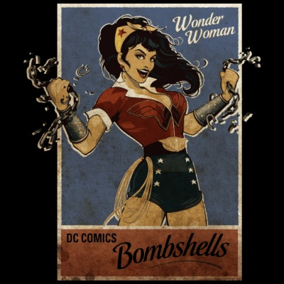 Wonder Woman Bombshells vrouwen T-shirt