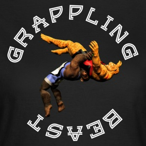 Grappling Beast (aap vs jaguar) - Vrouwen T-shirt