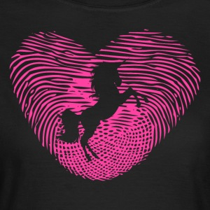 Fingerprint Heart Unicorn Love Unicorn Love - Women's T-Shirt