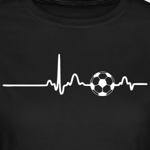 ECG HEART LINE SOCCER white - Women's T-Shirt
