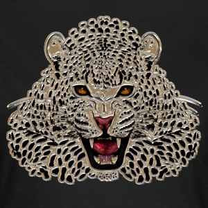 Cheetah at roar in mosaic - Women's T-Shirt