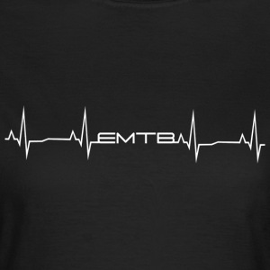 EMTB Heartbeat - White - Women's T-Shirt