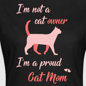 Katt Mom rosa - T-shirt dam