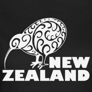 New Zealand: Kiwi with lettering in white - Women's T-Shirt