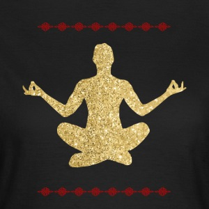 Meditation guld design - Dame-T-shirt