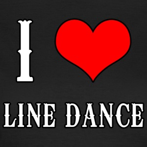 I Love Line Dance - T-skjorte for kvinner