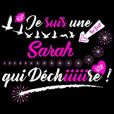 Tee Shirt Femme Prénom Sarah Pas Cher T Shirt Manches Longues