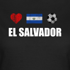 El Salvador Football Shirt - El Salvador Soccer Je - T-shirt dam