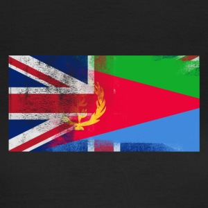 British Eritrean Half Eritrea Half UK Flag - T-shirt dam
