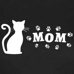 Cat picture with Mom lettering - Women's T-Shirt