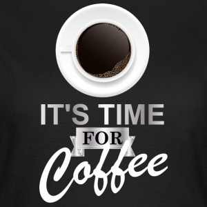 Coffee time argent - T-shirt Femme