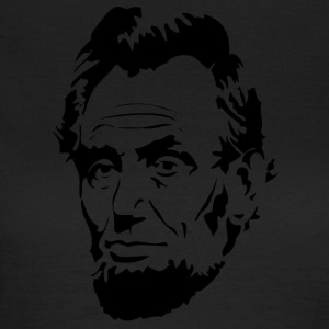 Face of President Abraham Lincoln - T-skjorte for kvinner