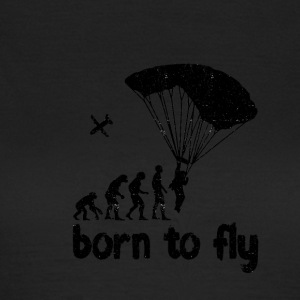 Evolution Skydiving - born to fly - Women's T-Shirt