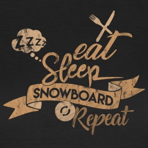 Eat Sleep SNOWBOARD GJENTA - T-skjorte for kvinner