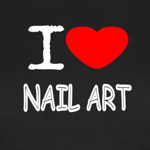 I LOVE NAIL ART - T-skjorte for kvinner