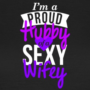 Proud Hubby couple shirt design - Frauen T-Shirt