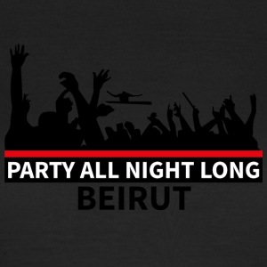 Party All Night Long Beirut - Dame-T-shirt